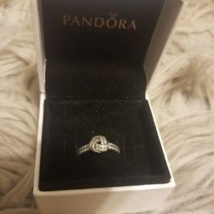 Pandora Knot Ring sz 6 with box